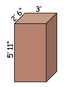 diagram with measurements for a sound booth