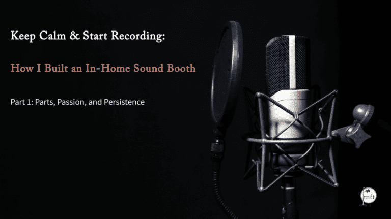 """microphone with text reading """"Keep Calm and Start Recording"""""""