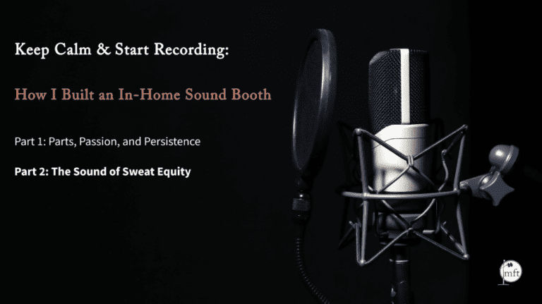 "microphone with text reading ""Keep Calm and Start Recording"""