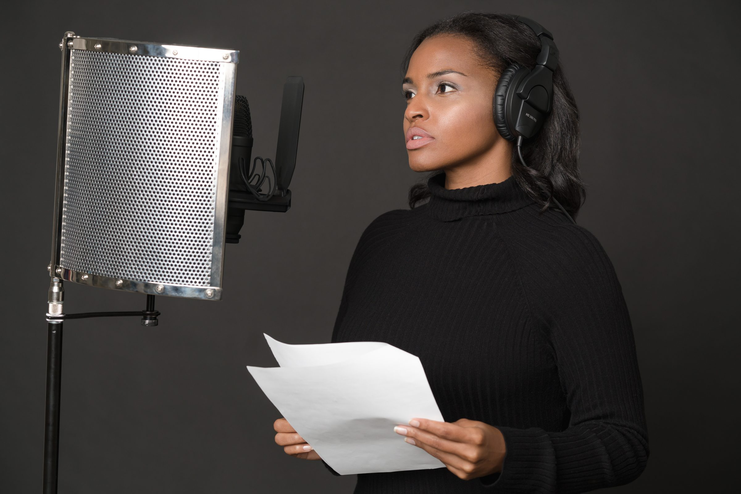Image of Michelle Francine Turner talking into a microphone